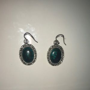 Jewelry - Teal and Silver Earrings